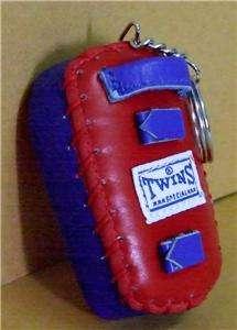 Twins Muay Thai Punch Pad Model Red Key Ring Key chain