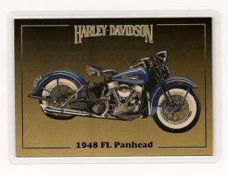 Harley Davidson Series 2 Gold Card 1948 FL Panhead Collect a Card