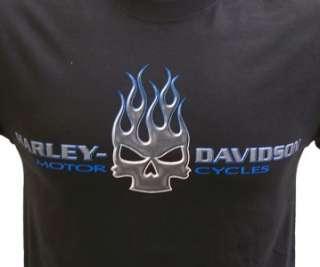 Harley Davidson Las Vegas Dealer Tee T Shirt Wilie G Skull BLACK MEDUM