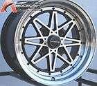 15X8 VarrStoen V2 Wheels 4X100 RIM +0MM OFFSET HYPER BLACK FITS E30