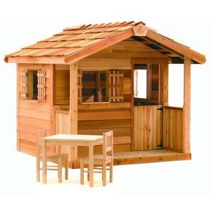 Cedar Shed Log Cabin Cedar Playhouse: Outdoor Play