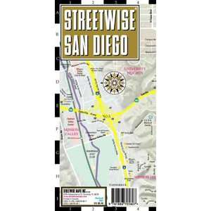 Streetwise San Diego Map   Laminated City Street Map of