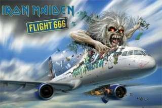 MUSIC POSTER ~ IRON MAIDEN FLIGHT 666 EDDIE