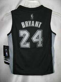 NBA KIDS LAKERS FASHION JERSEY KOBE BRYANT BLACK Sz 7
