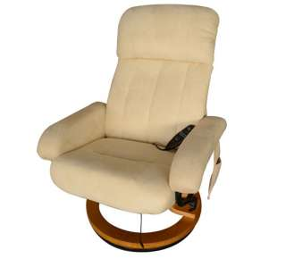 white recline office chair Vibrating TV Massage Chair W/Ottoman