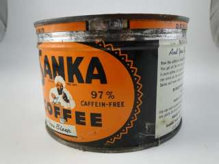 Vintage Sanka Maxwell House Coffee Advertising Tin Can Jar Box Hoboken