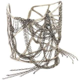 Melissa Joy Manning Doo.Ri Silver Webbed Cuff Bracelet   designer