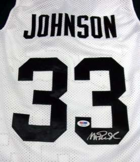 MAGIC JOHNSON AUTOGRAPHED SIGNED MICHIGAN STATE JERSEY PSA/DNA