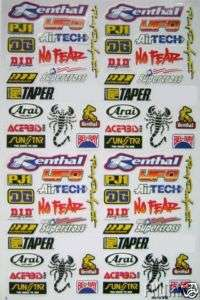 helmet moto bike bicycle kit graphic mini sticker decal