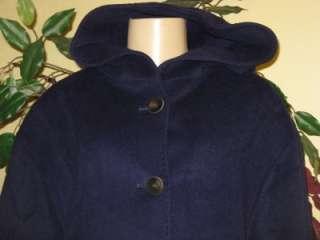 York womens winter Angora Wool blend hooded coat jacket plus24W3X $460