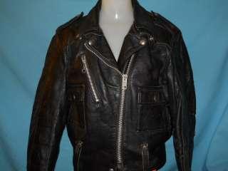 HARLEY DAVIDSON BLACK LEATHER MOTORCYCLE JACKET WOMENS SIZE 38