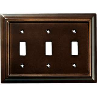 Brainerd Wood Architectural Triple Switch Wall Plate