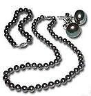 true Set Black Pearl Necklace Bracelet & Earring