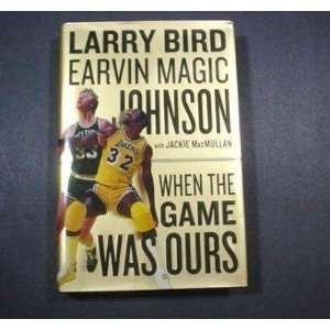 Larry Bird & Magic Johnson Autographed Book When The Game