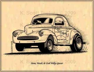 Stone Woods & Cook Willys Gasser Print #Gas 16