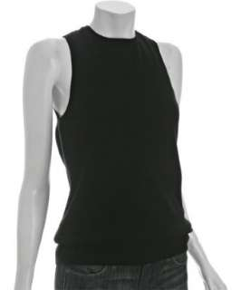 Robert Rodriguez black cashmere backless sweater