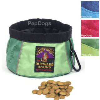 KYJEN Outward Hound Pet Dog Portable COLLAPSIBLE Camping TRAVEL BOWL