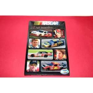 Box of 30 Nascar Foil Valentines Cards with Seals/Stickers