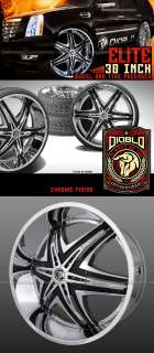 28 INCH YUKON DIABLO ELITE rims wheels & Tire ESCALADE