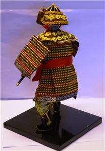 JAPANESE SAMURAI DOLL TRADITIONAL ROBES & SWORD