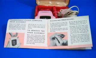 Pink Black Remington Princess Vintage Shaver in Org Box