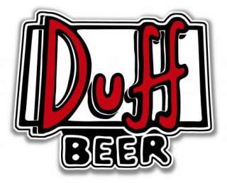 DUFF BEER DECAL STICKER HOMER BARNEY SIMPSONS BAR PARTY