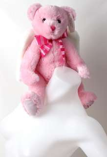PINK TEDDY BEAR WINGS NEW VALENTINES DAY LOVE NWT 0637295813178