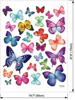 26 Butterflies Vinyl Decals Decor Kids Room Wall Stickers Nursery Kids