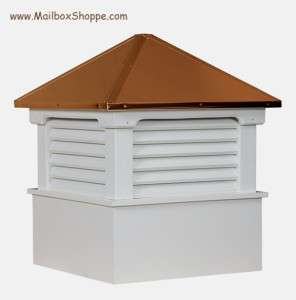 18 Azek Vinyl Cupola   Copper Roof   Weathervane Ready