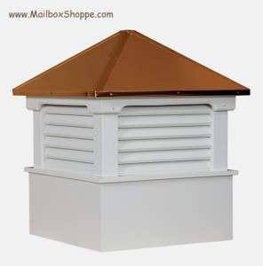 18 Azek Vinyl Cupola   Copper Roof   Weathervane Ready