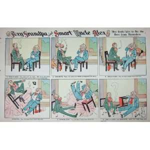 Foxy Grandpa Cartoon 1903 Uncle Alex Broken Chair: Home & Kitchen